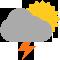 Durante la prima parte della giornata Coperto con piogge moderate tendente nella seconda parte della giornata Coperto