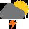 Durante la prima parte della giornata Coperto tendente nella seconda parte della giornata Nubi sparse con scrosci temporaleschi